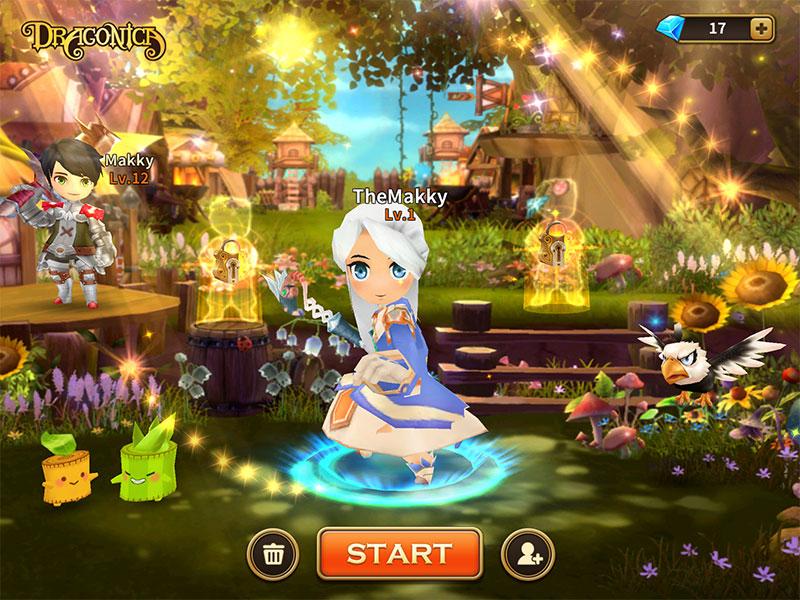 LINE Dragonica Mobile วิธีเปลี่ยนและซื้อตัวละครเพิ่ม