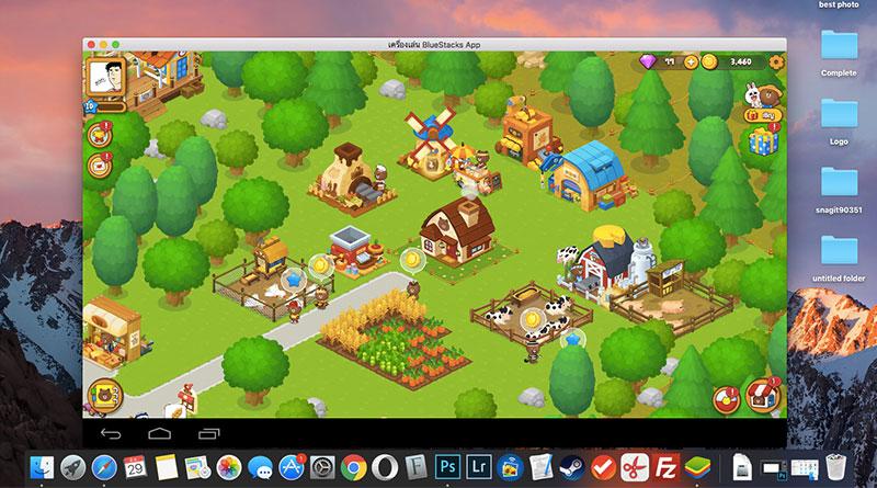 วิธีเล่นเกม LINE บราวน์ฟาร์ม บนคอมพิวเตอร์ด้วย Bluestack
